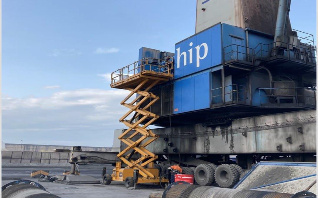 Intervención pericial Criteria: siniestro por avería de maquinaria de grúa portuaria móvil en el puerto de Gijón